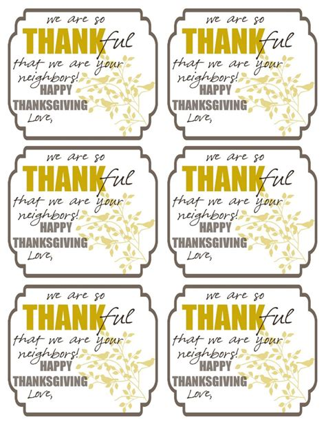 we are thankful card template thankful printable tags