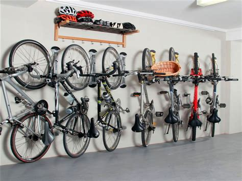 simple garage bike storage ideas on the wall for many