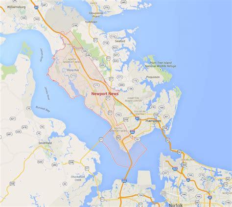 news va newport news virginia map