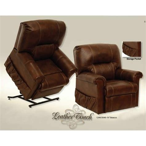 Leather Recliner Lift Chairs by Vintage Leather Touch Power Lift Recliner Chair In Tobacco