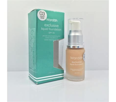 Wardah Foundation Exclusive halal cosmetics singapore exclusive liquid foundation