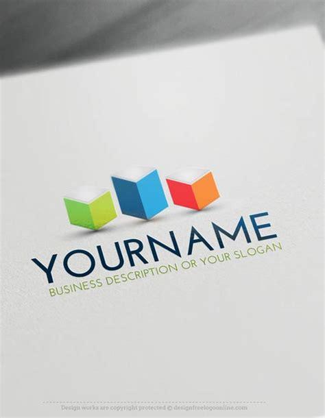 Online Free Logo Maker 3d Cubes Tower Logo Template Free Logo Creator Templates