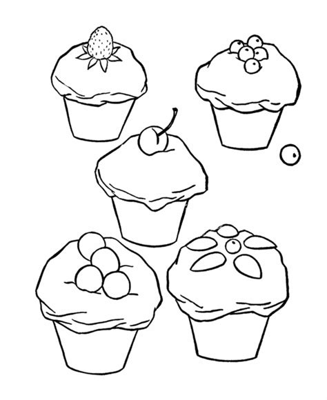 coloring sheet of cupcakes cupcake coloring page coloring home