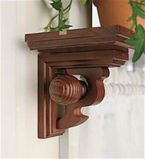 wood shelf brackets with curtain rod moroccan style