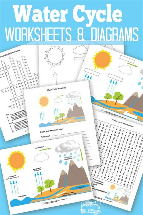 Pictures Water Cycle Writing Activity - free printable water cycle worksheet worksheets free