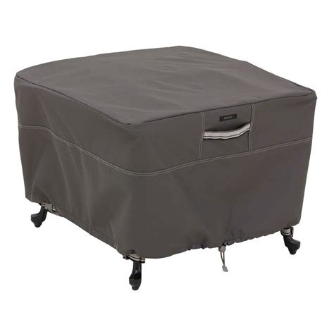 Square Patio Table Covers Classic Accessories Veranda Medium Square Patio Table Cover 55 566 011501 00 The Home Depot