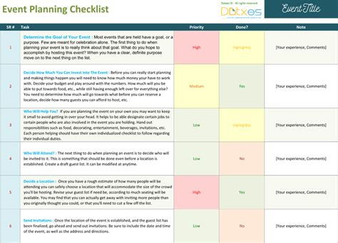 conference event planning checklist template event planning worksheet dotxes