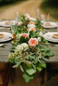 fresh flower runners gardens runners and centerpiece ideas