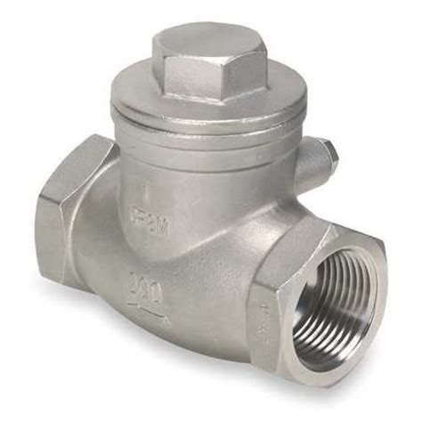 stainless steel swing check valve value brand 1 1 2 quot npt stainless steel swing check valve