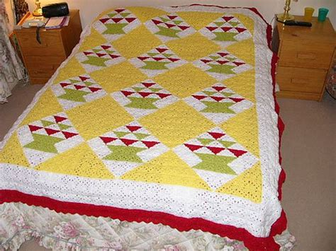 ravelry amish baskets crochet quilt pattern by c l halvorson free pin by tiarafan on afghans pinterest