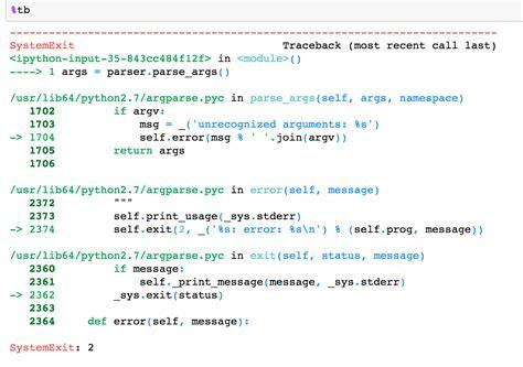 Python Launcher Notebook python argparse in ipython notebook unrecognized