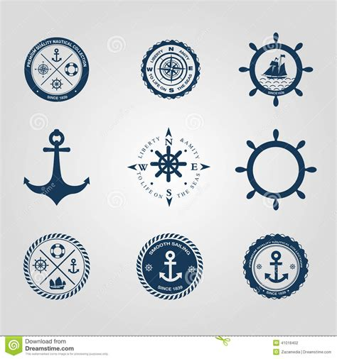 nautical design elements vector stock photography set of nautical labels icons logo