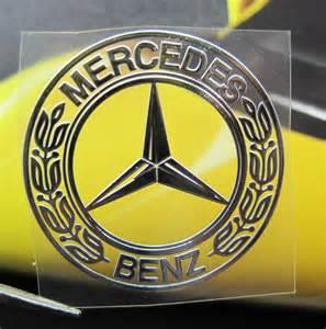 Mercedes Decals Mercedes Nickel Metal Car Mobile Emblem Thin