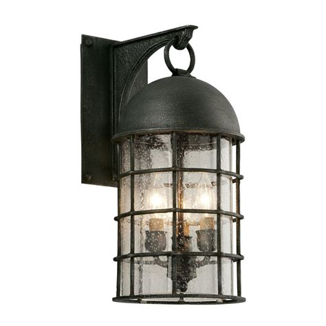 Aged Pewter Light Fixtures Troy Lighting Charlemagne 3 Light Aged Pewter Outdoor Wall Mount Sconce B4432 The Home Depot