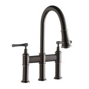 Double Handle Kitchen Faucet Elkay Lkec2037 Explore Pullout Spray Double Handle Bridge
