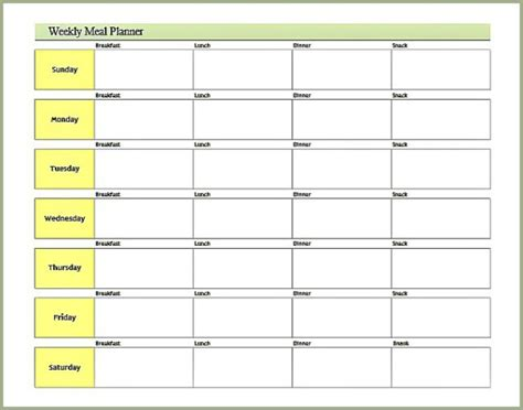 free printable meal planner calendar search results for printable weekly meal planner
