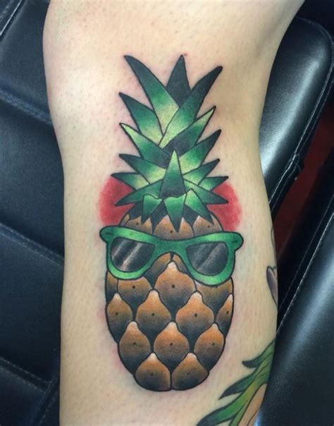 sunglasses tattoo designs pineapple with sunglasses tattoomagz