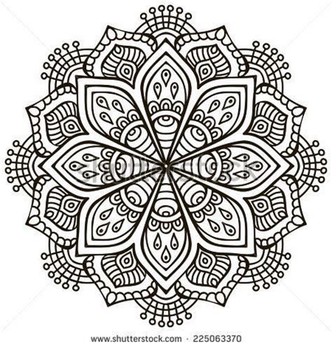 pattern drawing indian mandala round ornament pattern vintage decorative