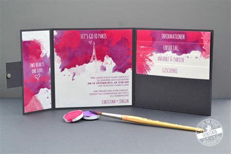 Hochzeitseinladung Wasserfarbe by Hochzeitseinladung Hochzeitspapeterie Individuell