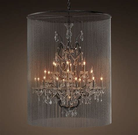 restoration hardware rain chandelier vaille crystal chandelier extra large
