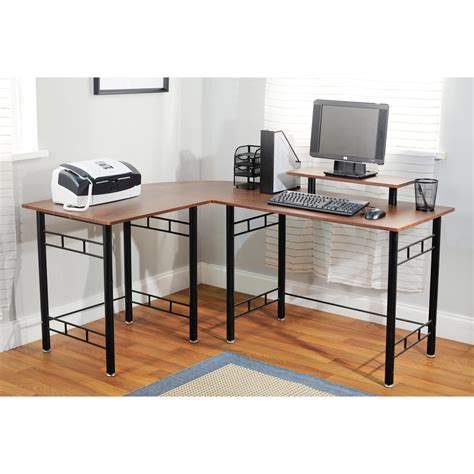 L Shape by Simple Living L Shaped Espresso Computer Desk Free