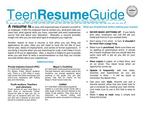 Teen Sample Resume – 8  teen resume examples   monthly bills template
