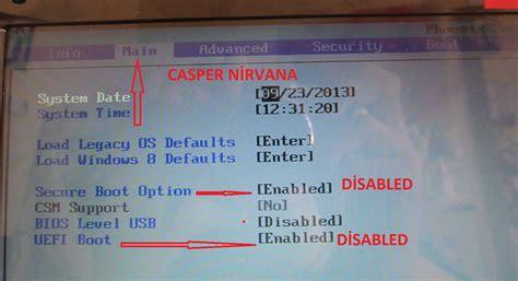 Asus Laptop Bios Ayarlari Resimli Anlatim windows 8 y 252 kl 252 bios 252 zerinde uefi boot ve hdd 220 zerindeki gpt korumas箟n箟n kald箟r箟lmas箟 benim