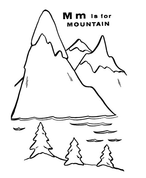 Mountains Coloring Pages mountain pictures mountains coloring page
