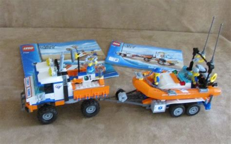lego boat and truck 7726 lego complete city coast guard truck with speed boat