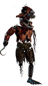Withered nightmare foxy fnaf fanmade by nyancat1439 on deviantart