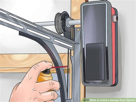 2 Door Garage Door Opener How To Install A Garage Door Opener With Pictures Wikihow