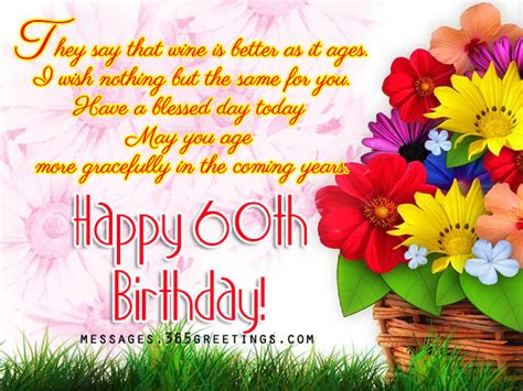 Happy Birthday Quotes For 60 Years 60th Birthday Greetings 365greetings Com