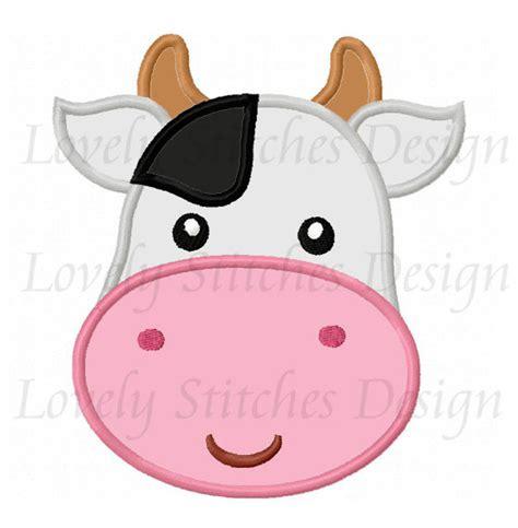 immagini applique mucca faccia applique macchina ricamo non disegno 0271
