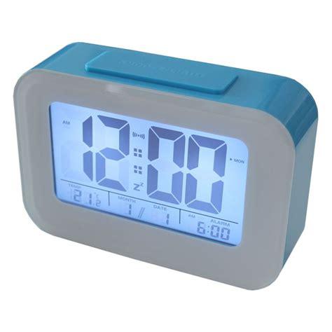 smart light lcd alarm clock with backlit display buy table clocks