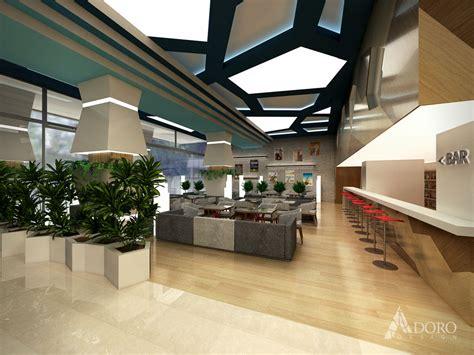 hotel reception interior adoro design