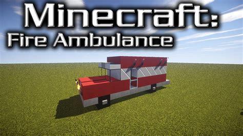 minecraft semi truck minecraft fire ambulance tutorial designed by yazur