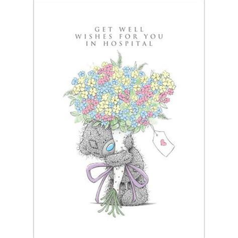 Get Well In Hospital Me to You Bear Card (AL4SS010) : Me