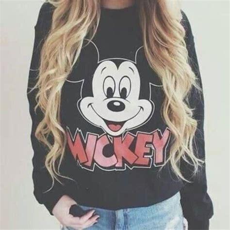 Lq Sweater Mickey By Girly Fashion mickey mouse sweatshirt sweater black