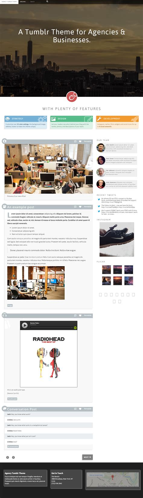 themes tumblr responsive best responsive tumblr agency themes in 2014 responsive