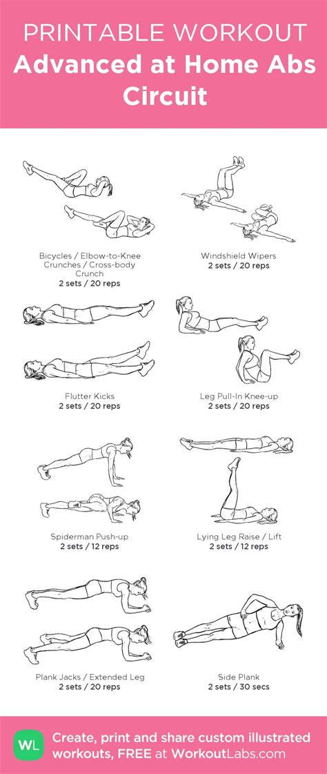 Ab Workout At Home by Best 25 Ab Circuit Ideas On