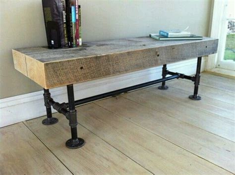 plumbing pipe bench wood pipe bench google search benches pinterest