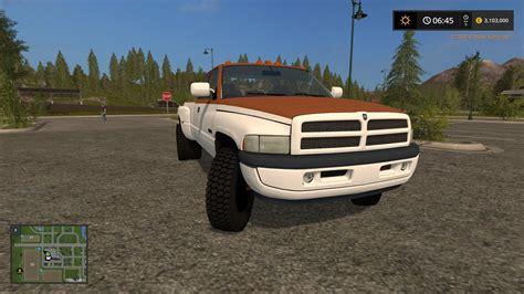 dodge work dodge ram work truck v1 fs17 farming simulator 17 mod