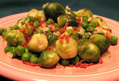 best brussels sprouts recipes and ideas genius kitchen brussels sprouts and peas with bacon recipe genius kitchen