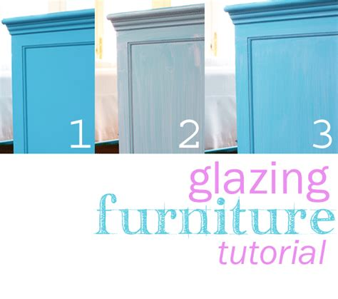 acrylic paint glaze recipe before and after furniture makeover in turquoise in my