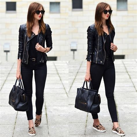 all black look lookbook nu leopard shoes leopards and