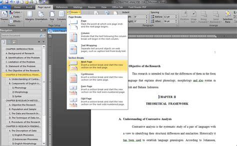 membuat nomor halaman yang berbeda dalam satu file membuat nomor halaman berbeda posisi dalam satu file