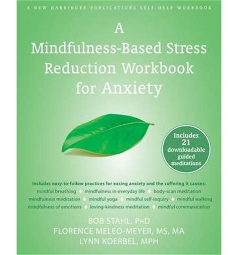 exploring feelings anxiety manual a guide for leaders books mindfulness based stress reduction workbook for anxiety