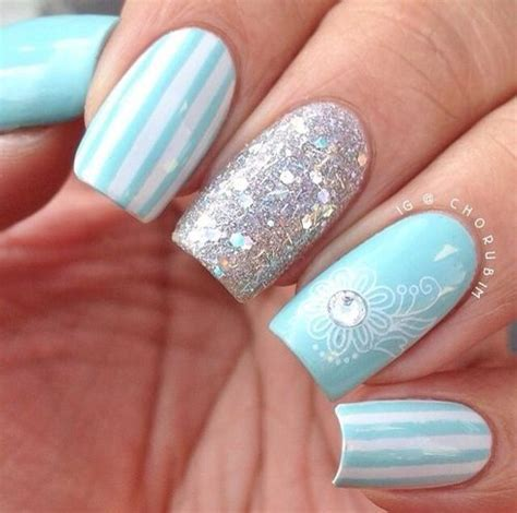 In A Nail Polishing Rut by 1000 Ideas About Light Blue Nails On Blue