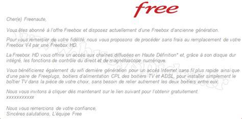Free Lettre De Rã Siliation Abonn 233 S Freebox V4 Passez 224 La V5