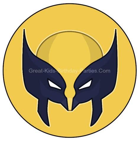 printable wolverine mask free superhero printables wolverine printable in small